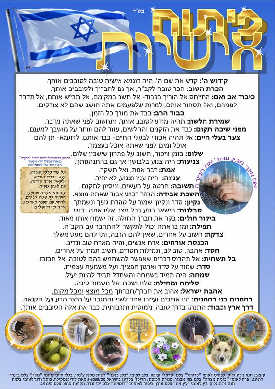 Free Posters Judaica Art Hannah Nivaglick
